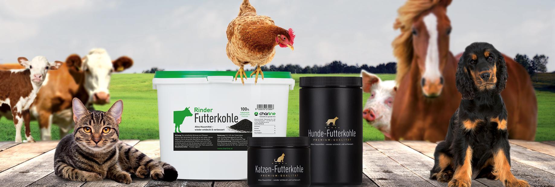 Futterkohle von CharLine GmbH - Für ihr Tier!