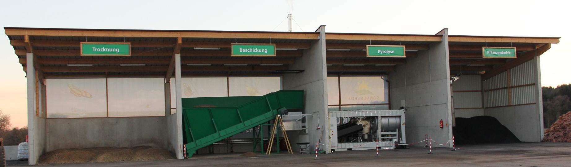 Pyreg Anlage - unsere eigene Verkohlungsanlage | CharLine GmbH