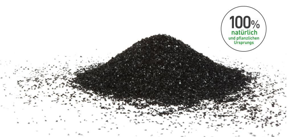 Kohlehaufen in feiner Griesform, 100 % natürlich Button