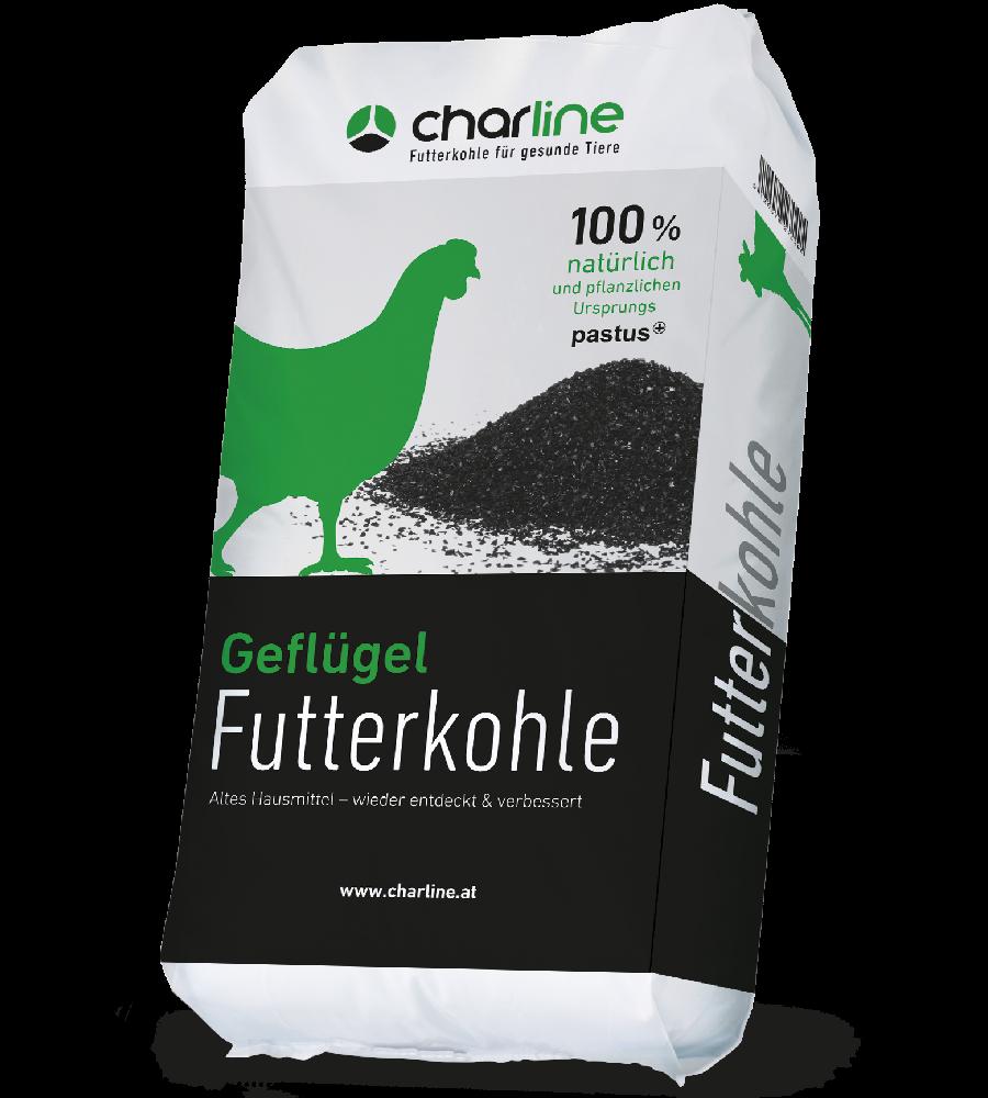 CharLine Futterkohle für Geflügel im Sack